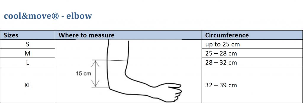 elbow sizes